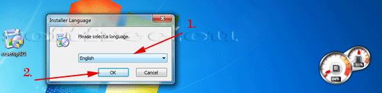 Tutorial CCleaner alegerea limbii de instalare
