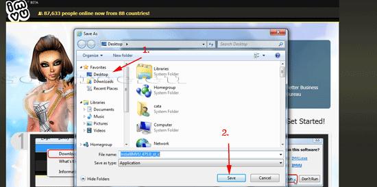 Tutorial IMVU salvare desktop