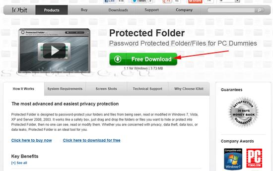 Tutorial IOBit Password Folder descărcare