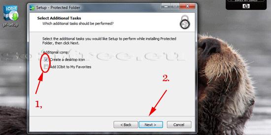 Tutorial IOBit Password Folder instalare opțiuni