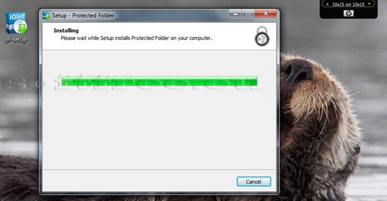 Tutorial IOBit Password Folder instalare efectivă