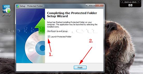 Tutorial IOBit Password Folder terminare instalare