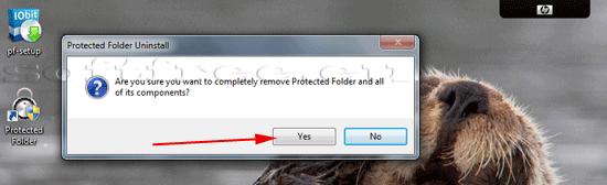 Tutorial IOBit Password Folder terminarea dezinstalării
