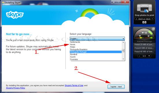 Tutorial Skype acceptarea termenilor și condițiilor de actualizare