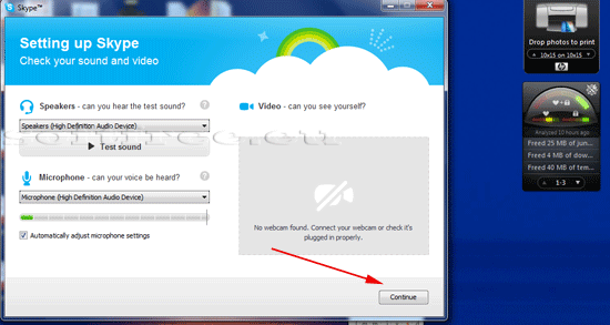 Tutorial Skype confirmare compatibilitate