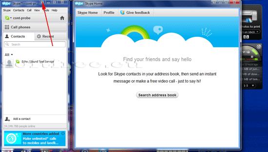 Tutorial Skype modificare interfață
