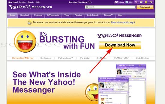 Tutorial Yahoo! Messenger descărcare
