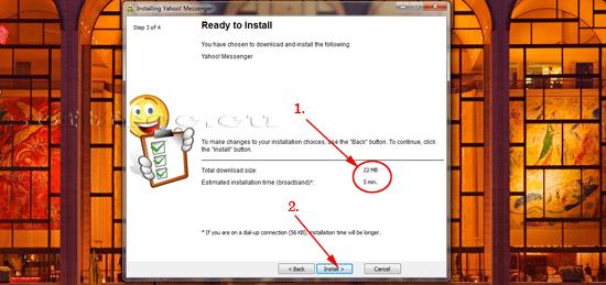 Yahoo! Messenger pregătit de instalare