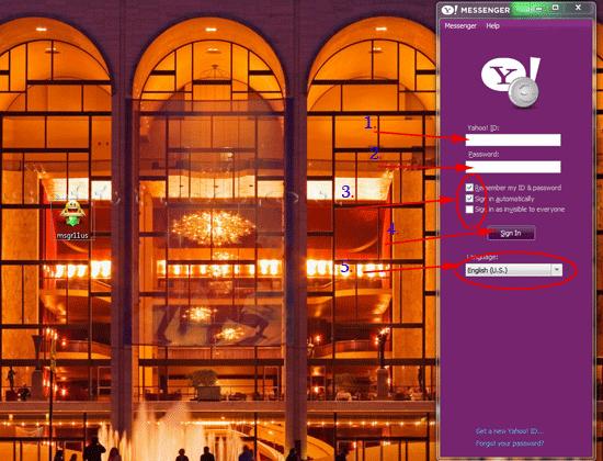 Tutorial Yahoo! Messenger prima deschidere